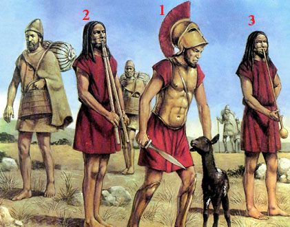 СПАРТАНСКАЯ АРМИЯ, ок. 470 г . до н.э.