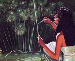 Изготовление из стеблей папируса листов, пригодных для письма, требовало большой ловкости и терпения.