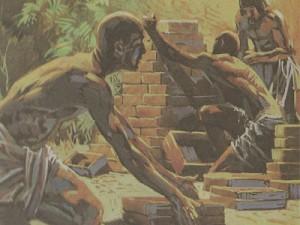 Испытание недостаток в камне, шумеры взамен стали делать плоские дощечки из глины и высушивать их на солнце, получая вполне пригодный строительный материал.