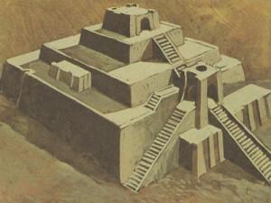Из одних лишь глиняных кирпичиков шумеры строили довольно внушительные храмы.