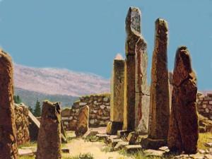 Это - развалины Библа, города, в древности прославленного как крупнейший центр торговли папирусом.