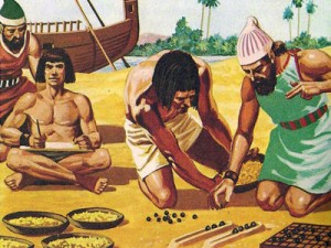 Вполне вероятно, что, подстегнутые необходимостью быстро вести подсчеты, возникшей благодаря их активным торговым связям, финикийцы первыми изобрели примитивную, но удобную систему записи чисел.