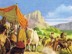 Арийцы, отличные скотоводы, запрягали лошадей в легкие маневренные повозки.