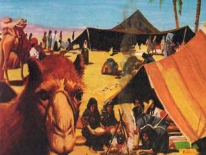 Еврейский народ, под предводительством Авраама, которого воодушевлял Бог, вышел из земли предков на поиски земли обетованной.