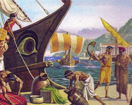 7da697f35f40 В эллинских портах процветала торговля  для перевозки товаров  использовались быстрые греческие корабли.