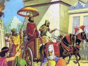 Вот так должен был выглядеть торжественный вход Дария в побежденный Вавилон.