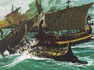 Несмотря на мощь своего флота, этрускпи не раз бывали разбиты, что наносило тяжелый урон торговле.