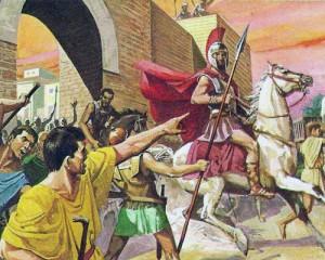 Римляне изгнали последнего царя Тарквиния Гордого, вызвавшего всеобщее недовольство.