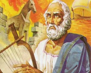 """Гомер был величайшим поэтом Греции, его эпические поэмы """"Илиада"""" и """"Одиссея"""" и сегодня являются самыми известными произведениями античности."""