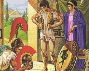 Обычай снаряжения воина приобретал в Спарте почти магическое значение. В этом проявлялся сильный до фанатизма патриотизм спартиатов.
