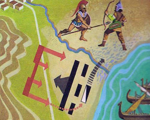 Схема битвы при Марафоне;
