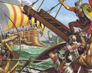 Римляне одержали великую победу в битве при Милах над карфагенским флотом, считавшимся непобедимым.