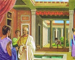 Типичный пример римского дома - с внутренним двориком и садом.