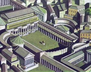 Октавиан Август украсил Рим великолепными памятниками архитектуры и оказывал содействие различным общественным работам