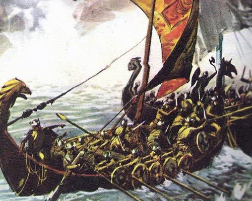 битвы викингов в открытом море