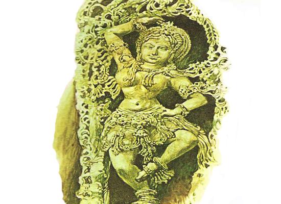 статуя индийской танцовщицы