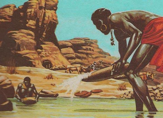 Тяжелый труд по добычи золота, ложился на плечи исключительно женщин.