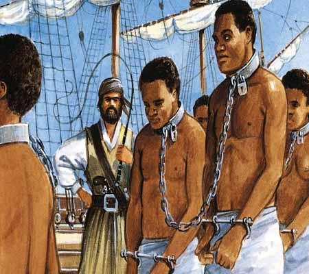 Африканские рабы на торговом судне