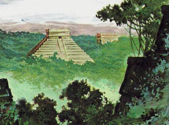 храмы и пирамиды майя