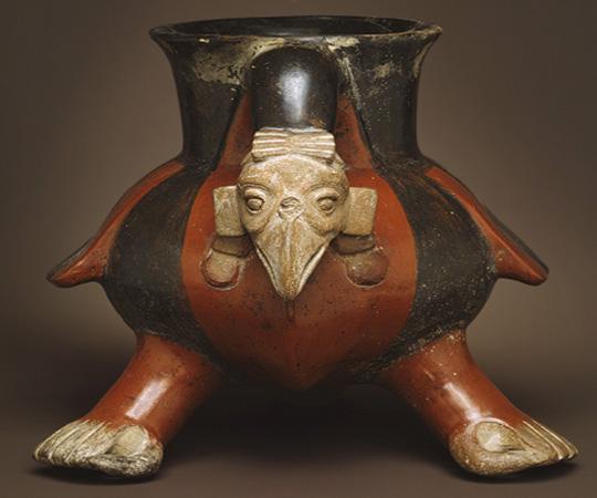 Ацтекский керамический Сосуд стервятника (Vulture Vessel)