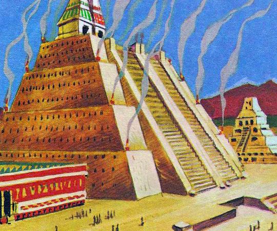 Столица Теночтиплан, в которой было много величественных зданий, общественных и частных, была, возможно, самым красивым американским городам доколумбовского периода.