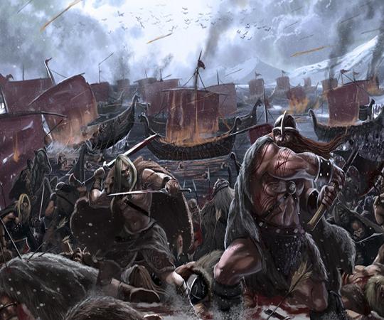Набег викингов к берегам Англии