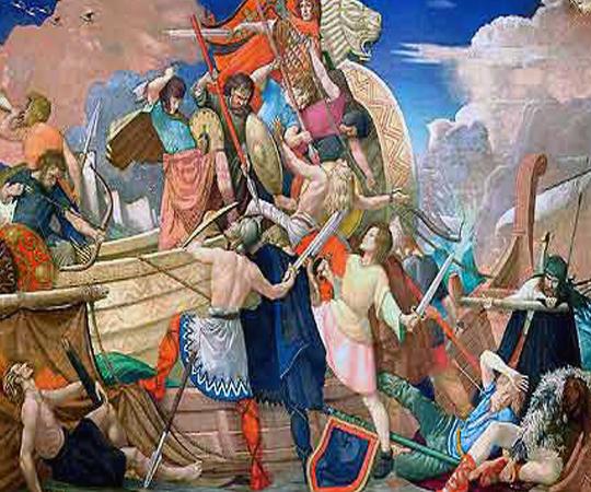 Битва короля Альфреда с викингами