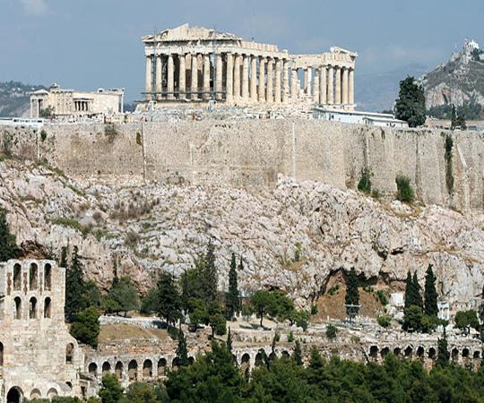 Акрополь в Афинах вид с юга