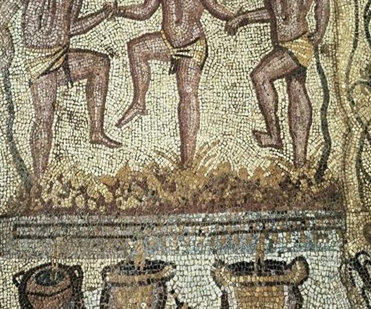 отжим сока из винограда в Дремнем Риме