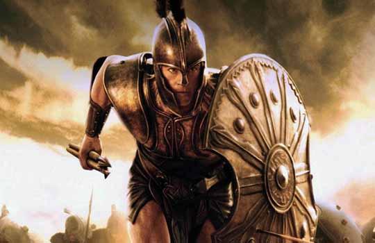 Воин Ахиллес в древней Греции