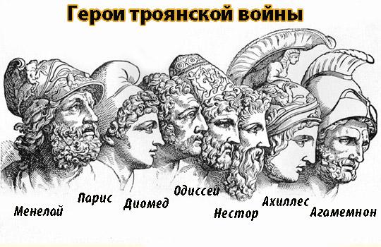 герои троянской войны