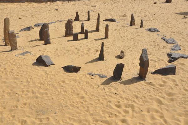 Астрономия Древнего Египта - реконструкция камней Набта-Плайя Асуане